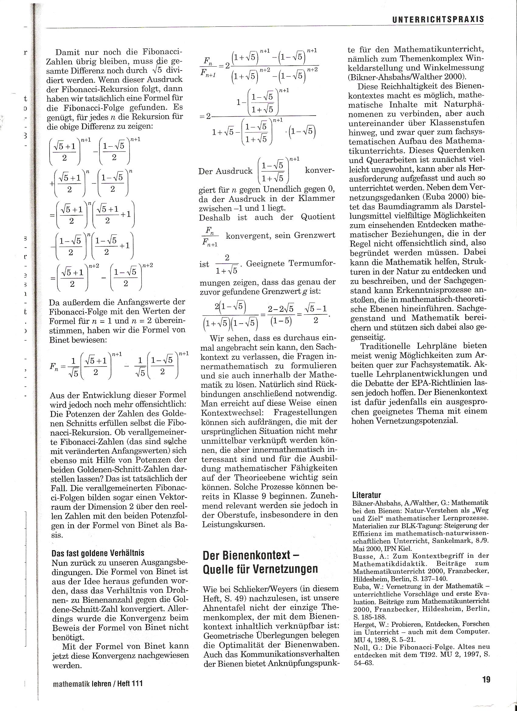 atfd / Mathematik in Natur und Kunst